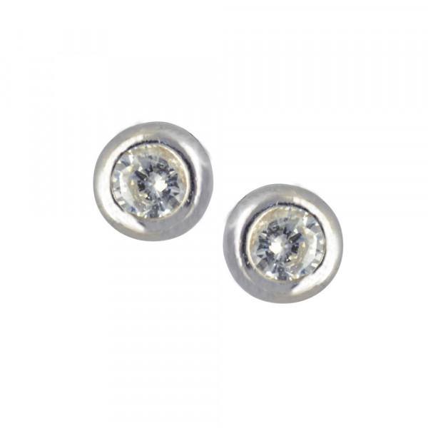 OS Kristall 4 mm 925 Silber rhod.