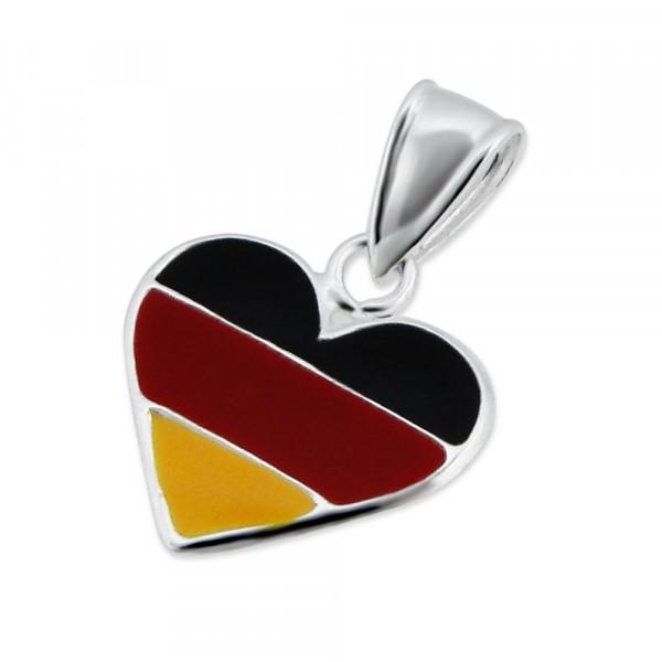 *AH Herz in Deutschlandfarben 925 Silber