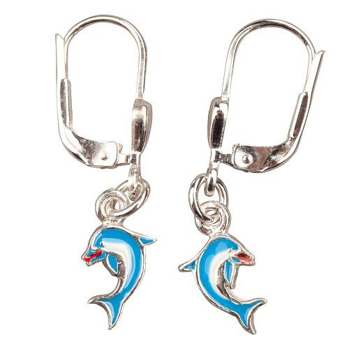 OH Delphin blau 925 Silber