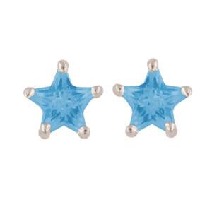OS Stern himmelblau 925 Silber