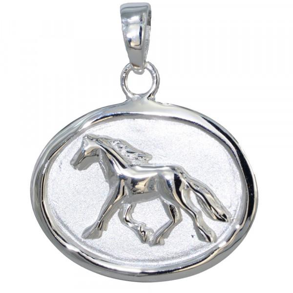 AH lfd. Pferd oval 925 Silber