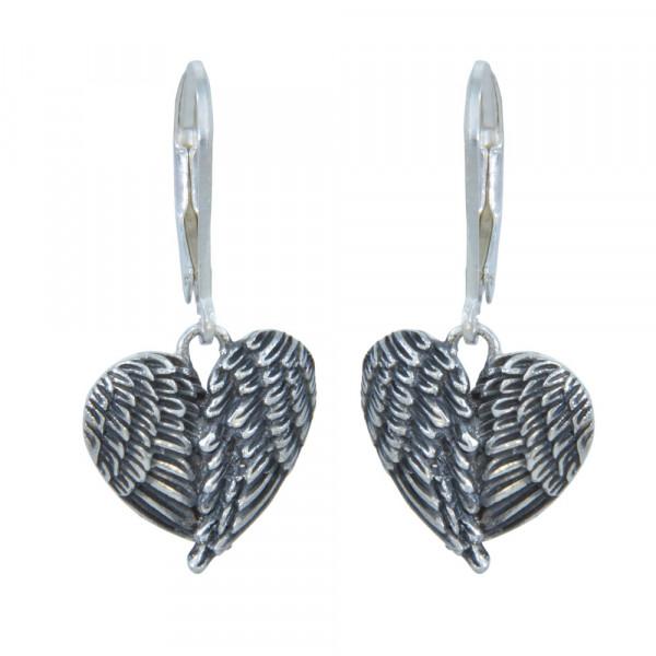 Ohrhänger 925 Silber geflügeltes Herz
