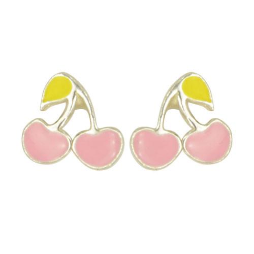 *OS Kirschen plan rosa 925-Silber