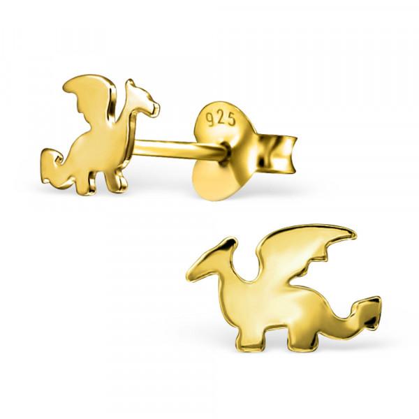 OS Drache 925 Silber vergoldet