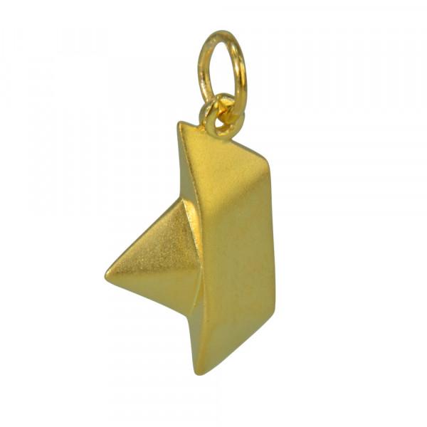 AH Faltboot mattiert vergoldet 925 Silber