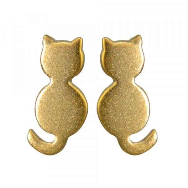 OS Katze gebürstet verg. 925 Silber