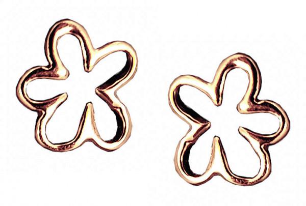 OS cut-out Blüte 925 Silber rosé vergoldet