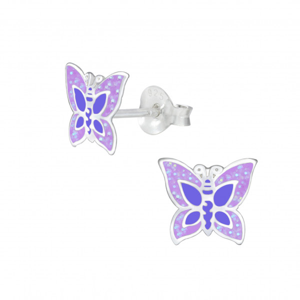 OS Butterfly lila 925 Silber e-coated