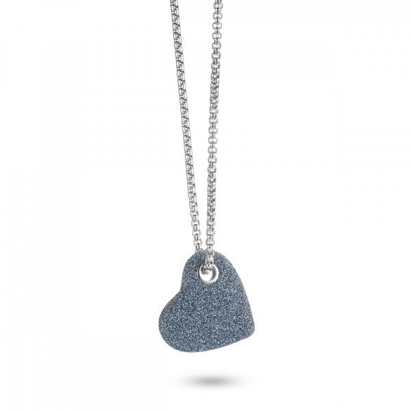 Kette Herz Stardust 316 Edelstahl mit mineralisierten Oberflächen