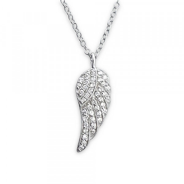 Kette Flügel 45 cm 925 Silber