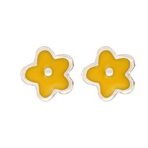 Blume Ohrstecker gelb