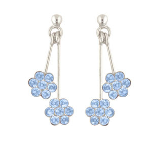 Blumen Ohrhänger blau