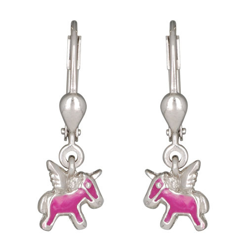 OH mini Pegasus rosa 925 Silber