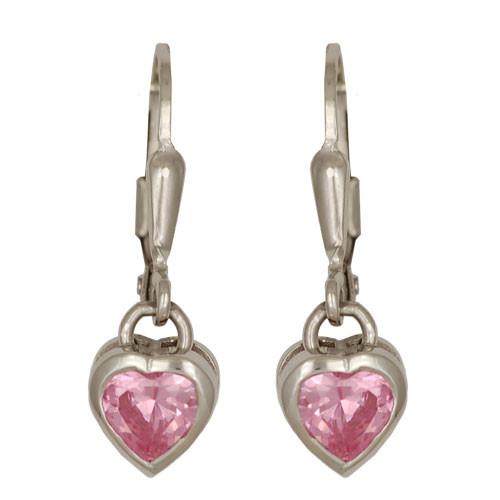 Kristallherz Ohrhänger rosa