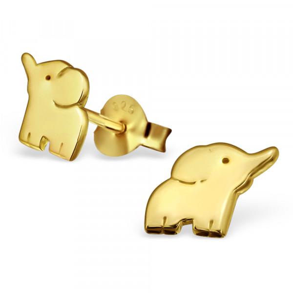 OS Elefant 925 Silber vergoldet