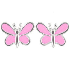 OS Schmetterling rosa 925 Silber