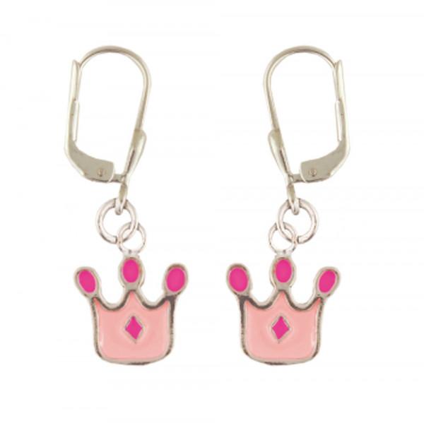 Krone Ohrhänger rosa