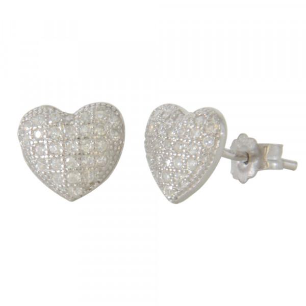 OS 925 glitzerndes Herz mit kleinen Kristallen