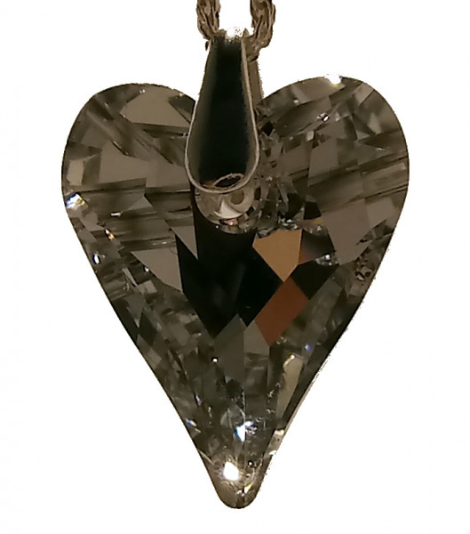 Kette Herz Comet Argent Light 18x14mm Swarovski Elements 925 Silber