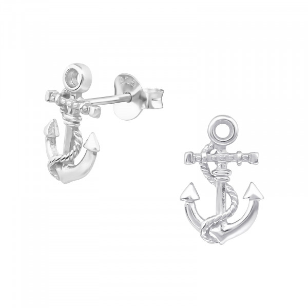 OS Anker mit Seil 925 Silber e-coated
