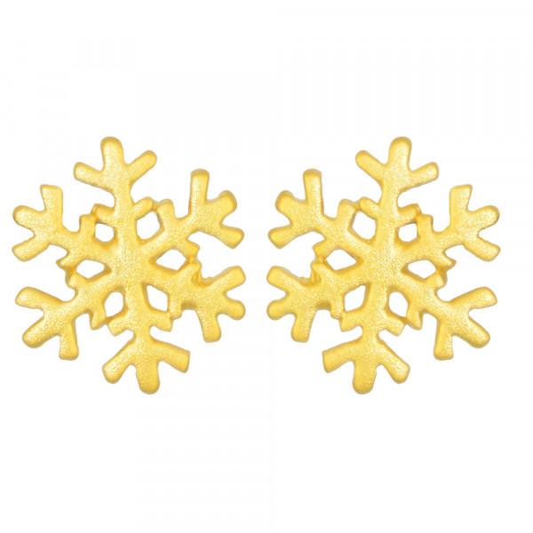 OS mattiert vergoldete Schneeflocke 925 Silber