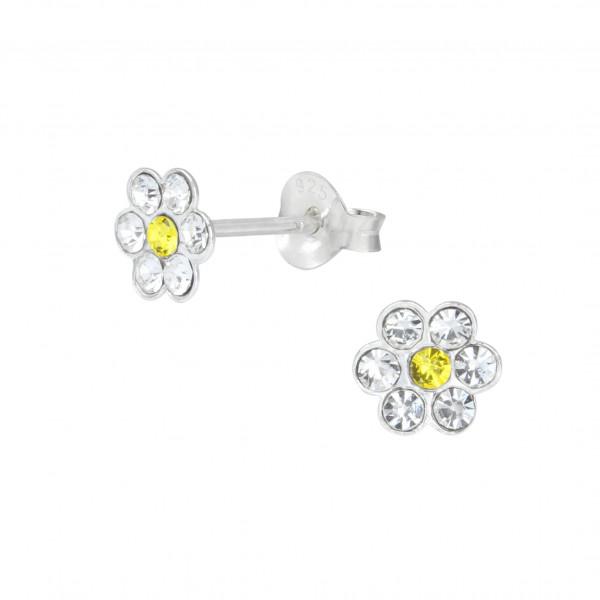 OS Blüte weiß/gelb 925 Silber e-coated