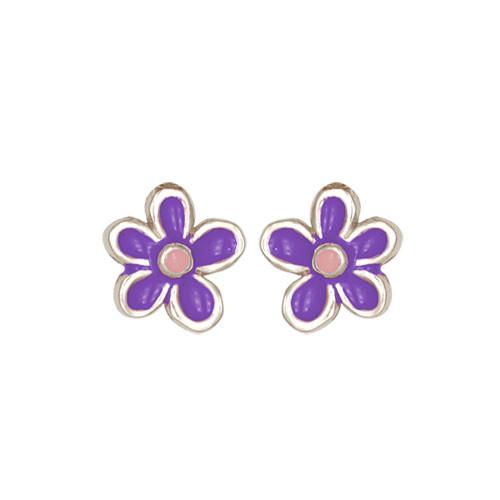 Blümchen Ohrstecker lila/rosa