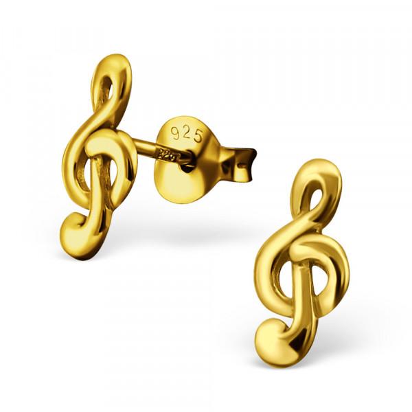 *OS Notenschlüssel 925 Silber vergoldet