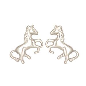 Ohrstecker Pferd schlicht 925 Silber