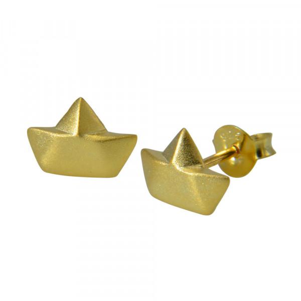 OS Faltboot mattiert vergoldet 925 Silber