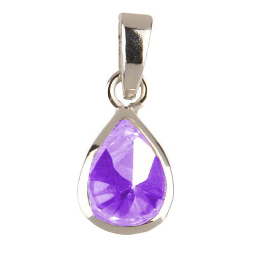 Kristalltropfen Anhänger lila
