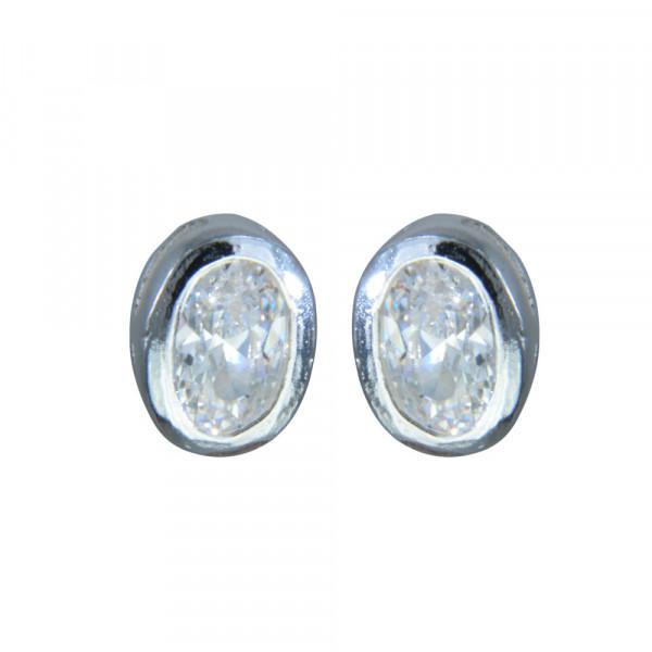 OS oval crystal 925 Silber