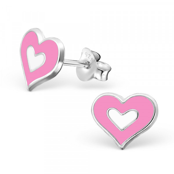 *OS rosa/weisses Herz 925 Silber