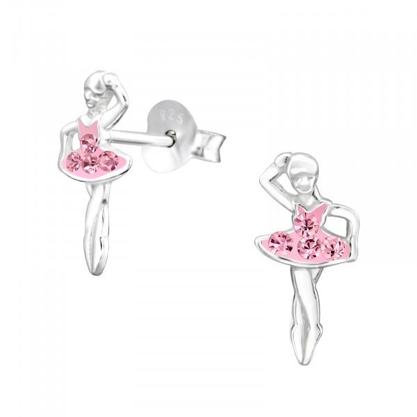 OS Ballerina rosa Glitzer 925 Silber e-coated