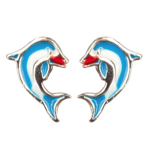 OS Delphin blau 925 Silber