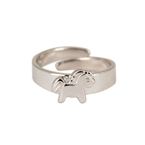 Ring Pony 925 Silber e-coated