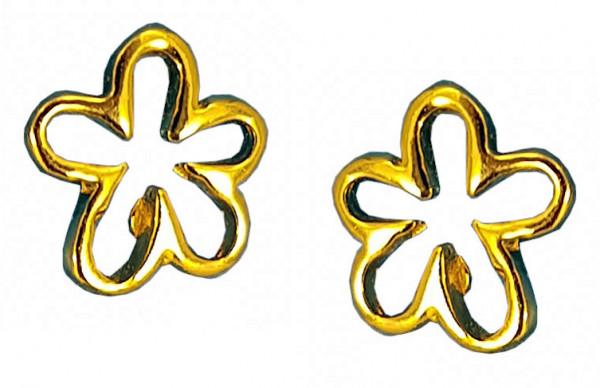 OS cut-out Blüte 925 Silber vergoldet