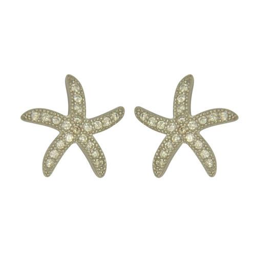 OS 925 glitzernder Seestern mit kleinen Kristallen