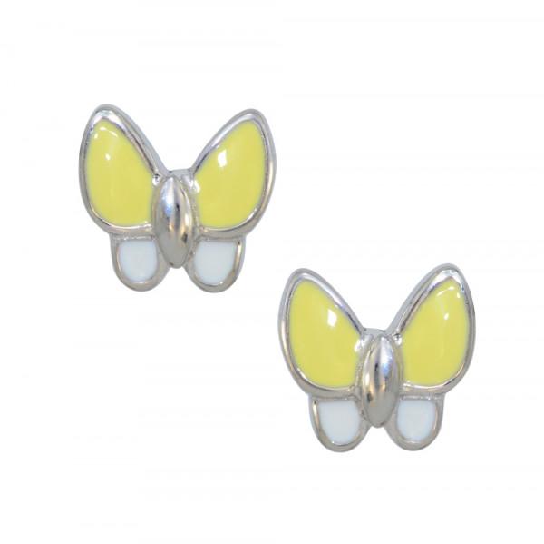 *OS gelb/weiß Schmetterling 925 Silber