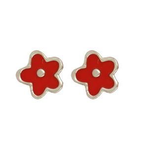 Blume Ohrstecker rot