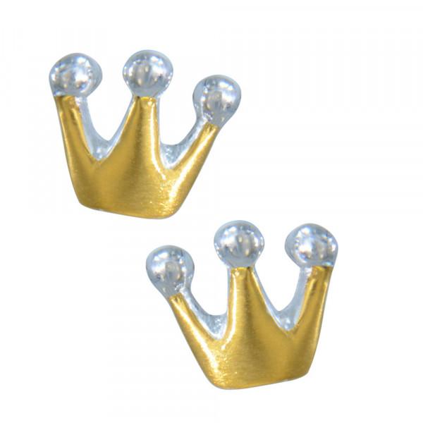 OS kleine Krone vergoldet 925 Silber