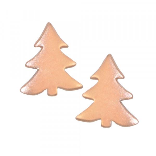 *OS mattiert rosé vergoldeter Tannenbaum 925 Silber