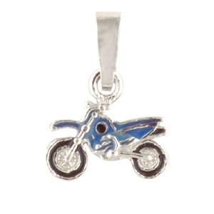 Motorrad Anhänger blau