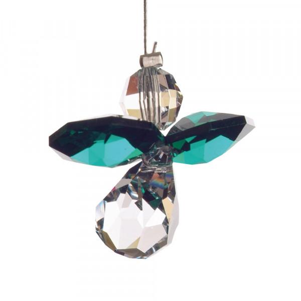 Schutzengel mit Swarovski-Kristall Smaragd