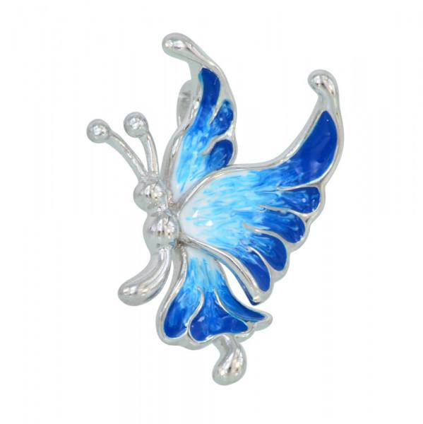 AH bleue Schmetterling 925 Silber