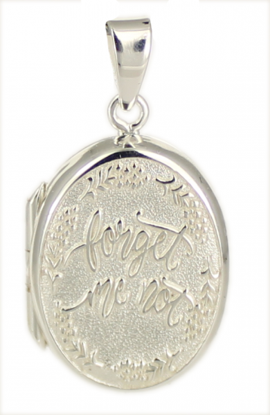 "AH Medaillon ""forget me not"" oval 925 Silber"