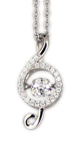 Kette Note Dancing Diamond rhod.925 Silber 45 + 3,5 cm Verlängerung