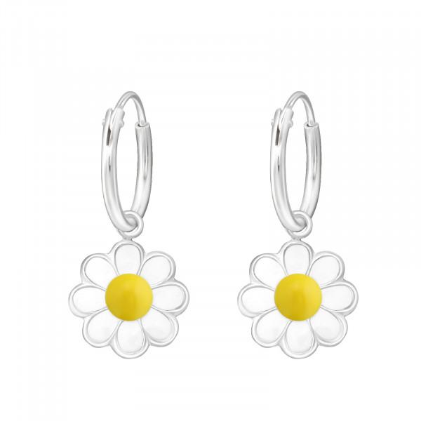 CREOLE Blüte weiß/gelb 925 Silber e-coated