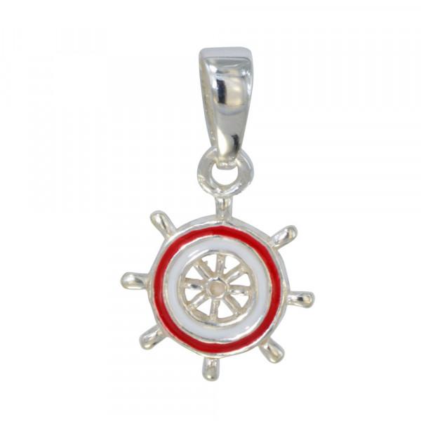 AH Steuerrad rot/weiß 925 Silber