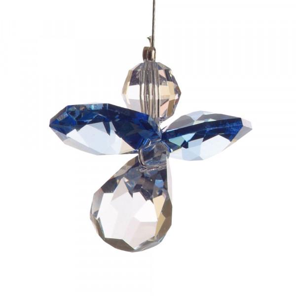 Schutzengel mit Swarovski-Kristall Saphir